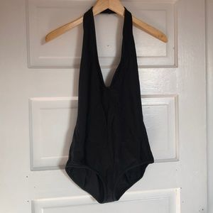 Black American Apparel Halter One Piece